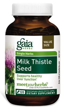 Picture of Gaia Herbs Milk Thistle Seed 120 Counts