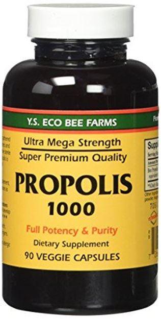Propolis-Raw Unprocessed 1000mg Y S  Organic Bee Farms 90 Caps