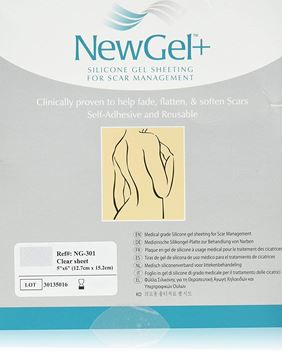 """Picture of NewGel+ - SILICONE SHEET FOR SCARS - 5"""" X 6"""" - CLEAR (NG-301)"""