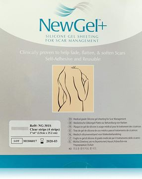 """Picture of NewGel+ - SILICONE STRIPS FOR SCARS 1"""" X 6"""" - CLEAR (NG-301S)"""