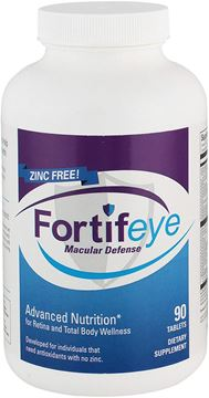 Picture of Fortifeye Vitamins Macular Defense Multivitamin, All Natural USP Verified Total Body & Vision Supplement - 30 Day Supply, 90 Tablets (Zinc Free)
